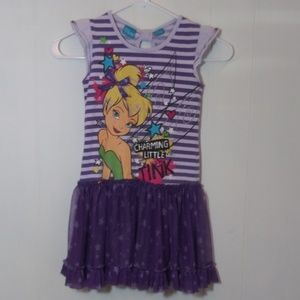 2/$14 Disney Tinkerbell Dress Purple 6-6x